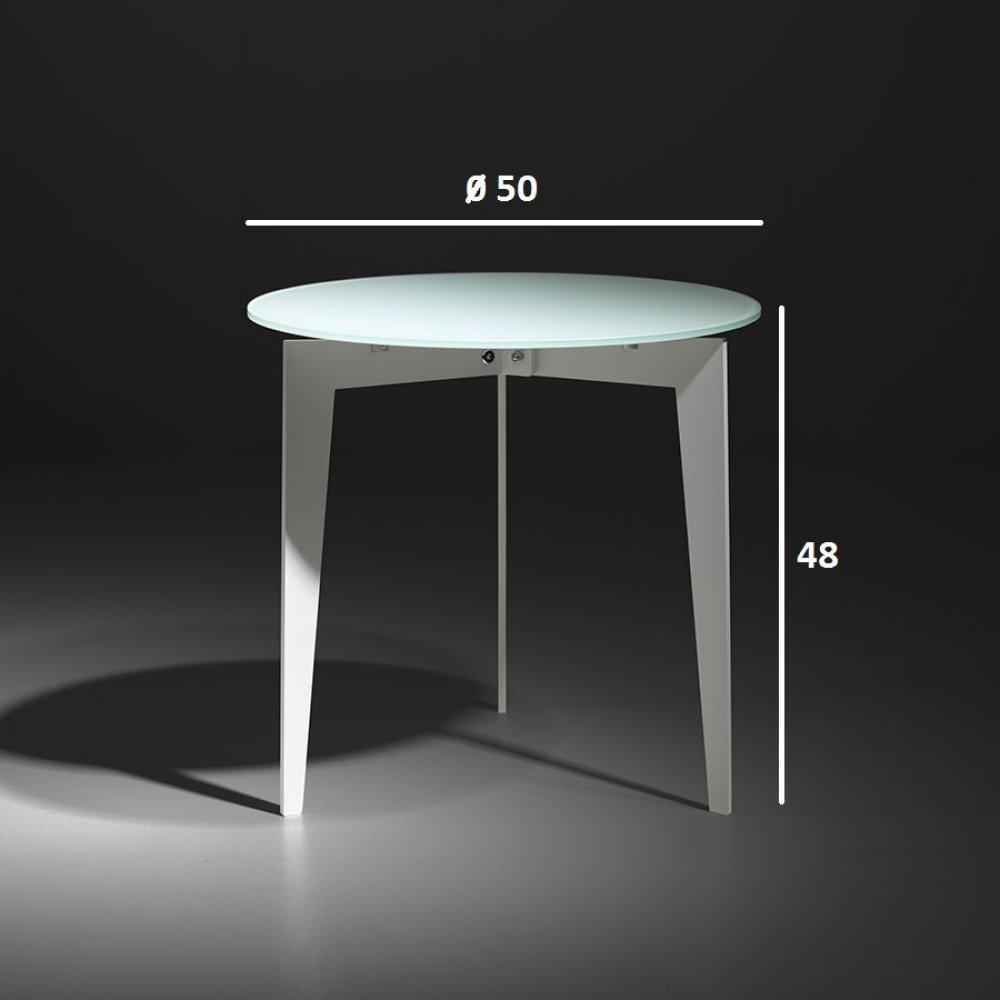 Tables basses tables et chaises table basse ronde dallas - Table basse verre et blanc ...