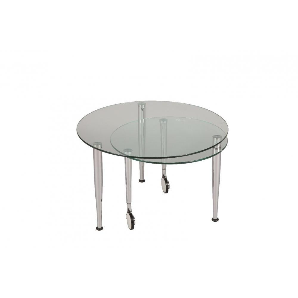 Tables gigognes tables et chaises table basse eight en for Plateau en verre pour table basse