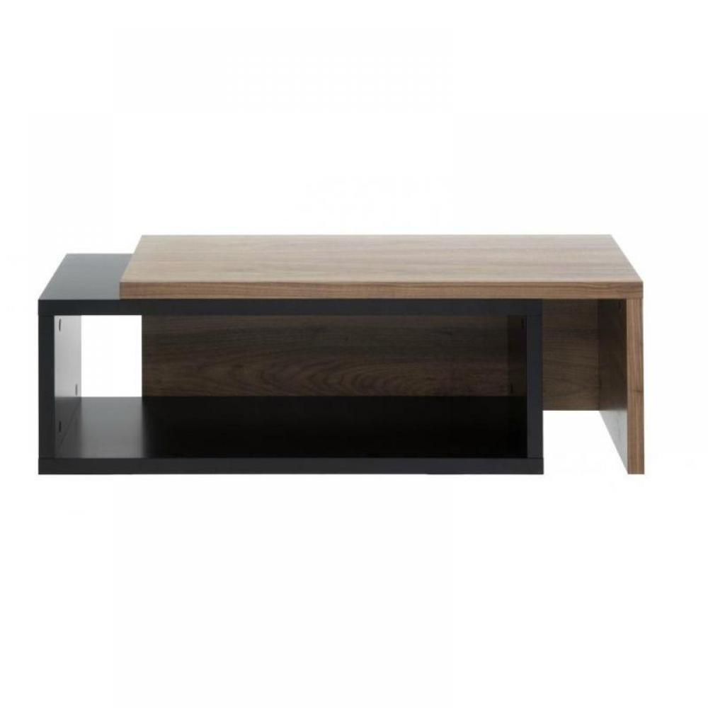 Tables basses tables et chaises temahome jazz table basse extensible en boi - Table basse noir bois ...