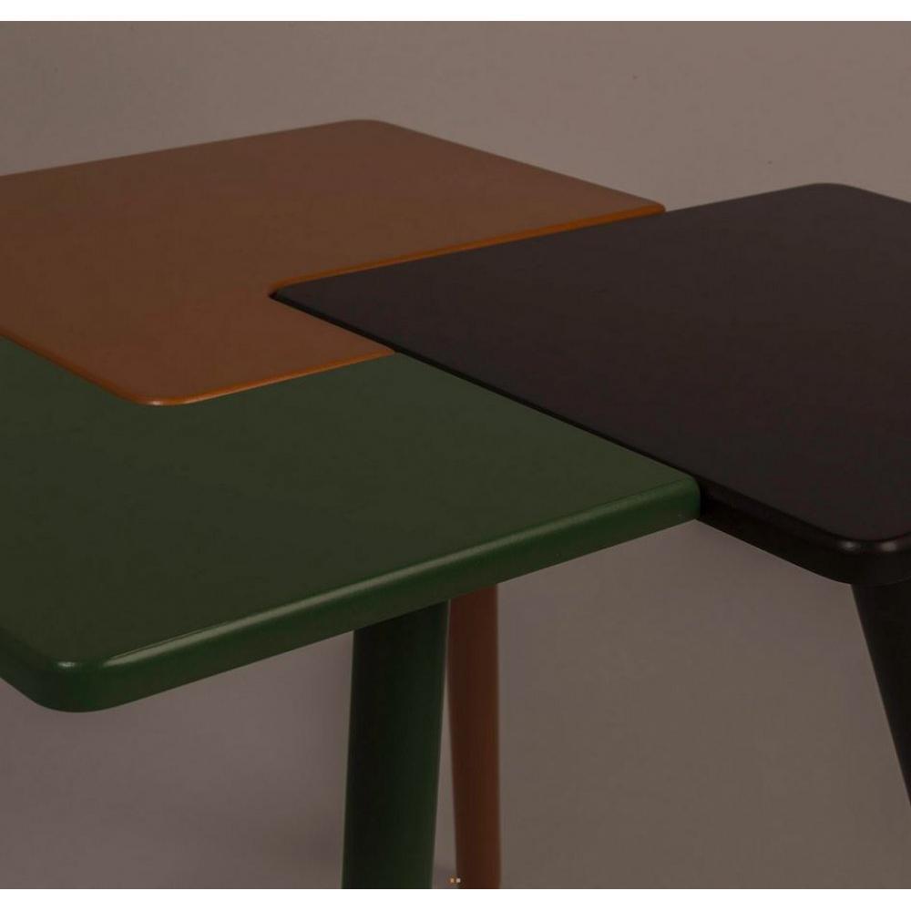 Tables basses tables et chaises table basse triple de for Table basse 40 cm largeur