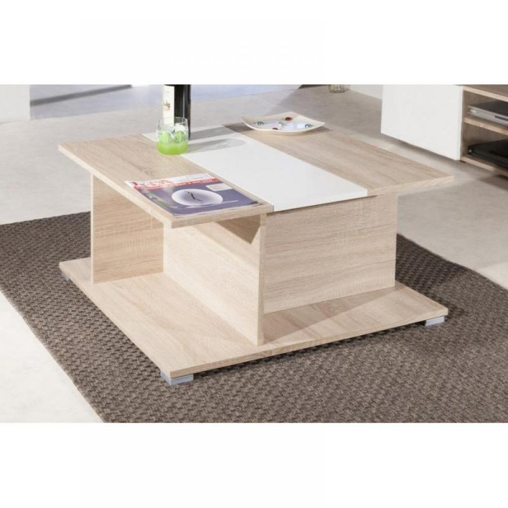 Tables basses tables et chaises table basse avec mini bar woody inside75 - Table basse avec rangement bar ...