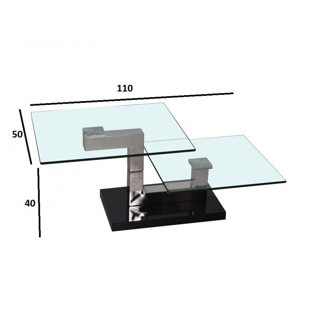 tables basses tables et chaises table basse rectangulaire spin en verre transparent inside75. Black Bedroom Furniture Sets. Home Design Ideas