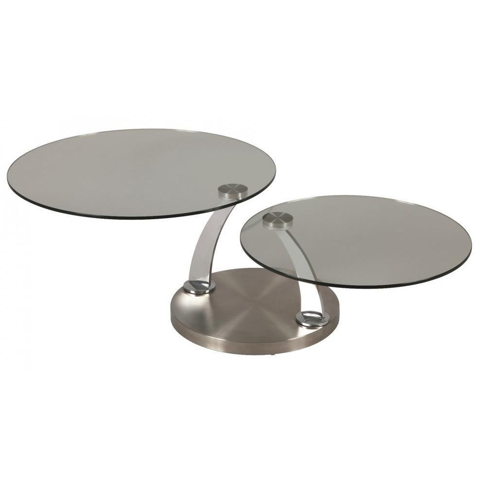 Table basse verre et acier brosse - Table basse acier brosse ...