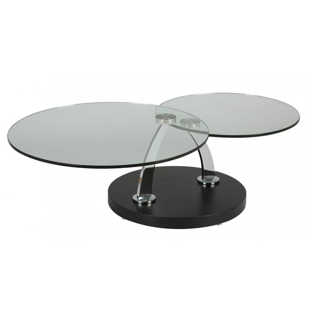 Tables basses tables et chaises table plateaux pivotants steel en verre p - Table basse 3 plateaux pivotants ...
