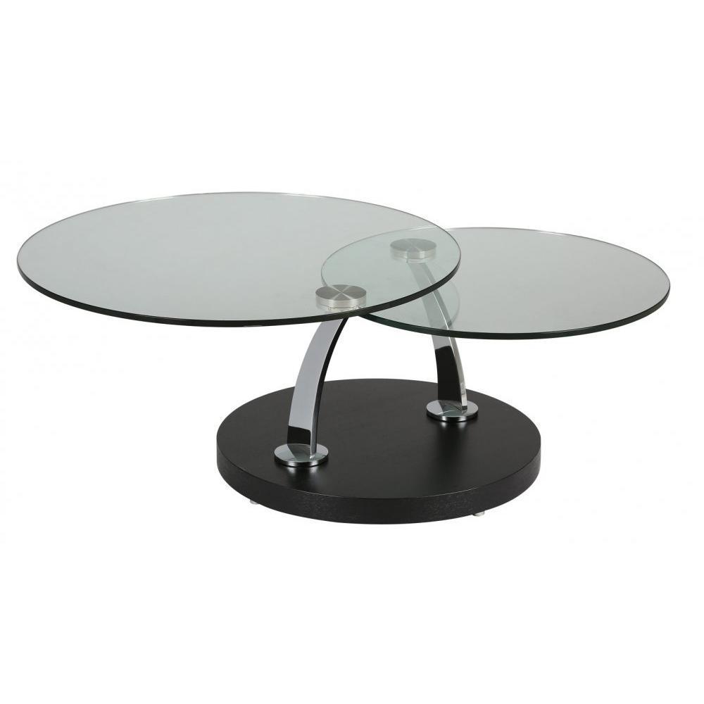 Tables modulables tables et chaises table plateaux pivotants steel en ver - Table basse 3 plateaux pivotants ...