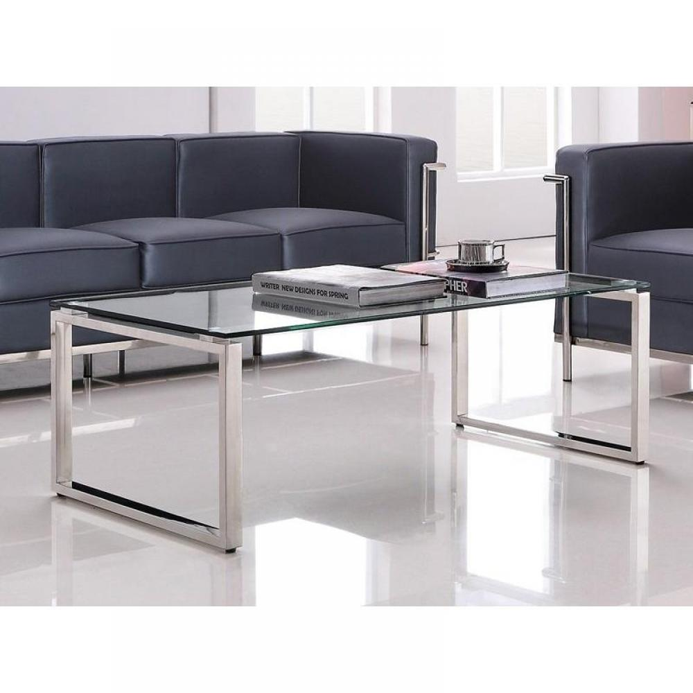 Table basse design wave en verre - Table basse design verre linea ...