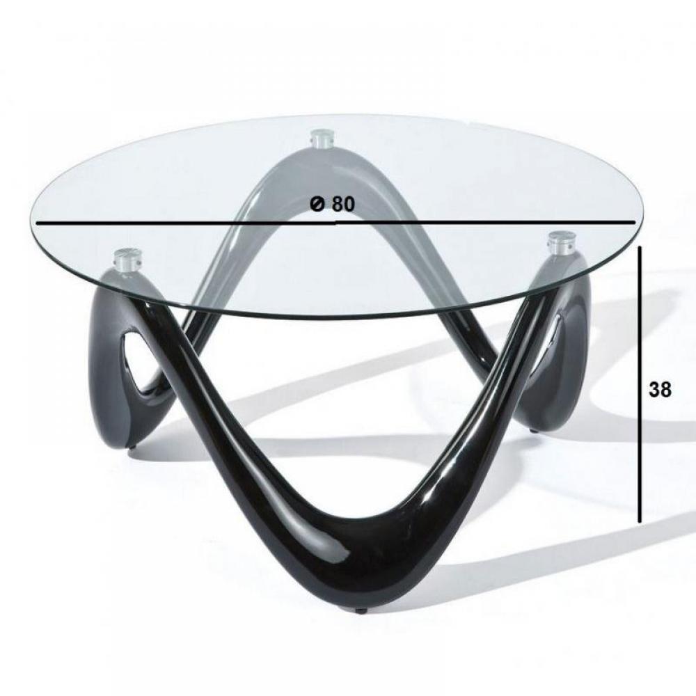 tables basses tables et chaises table basse design valentine en verre et pi tement noir inside75. Black Bedroom Furniture Sets. Home Design Ideas