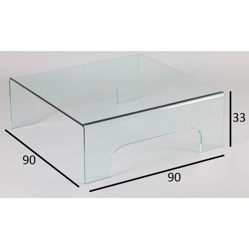 Tables basses tables et chaises table basse carr en for Table basse verre