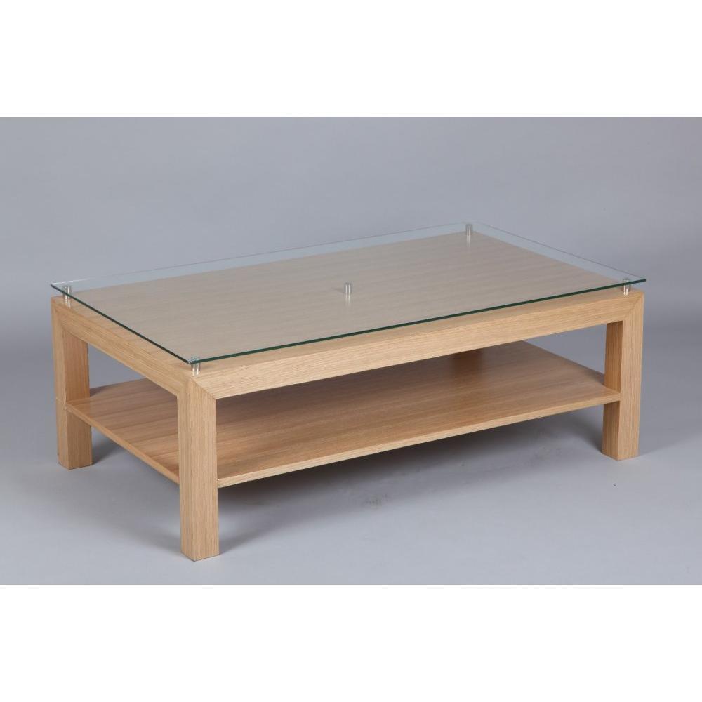 Consoles tables et chaises console eoline 2 tiroirs avec for Plateau en verre pour table basse
