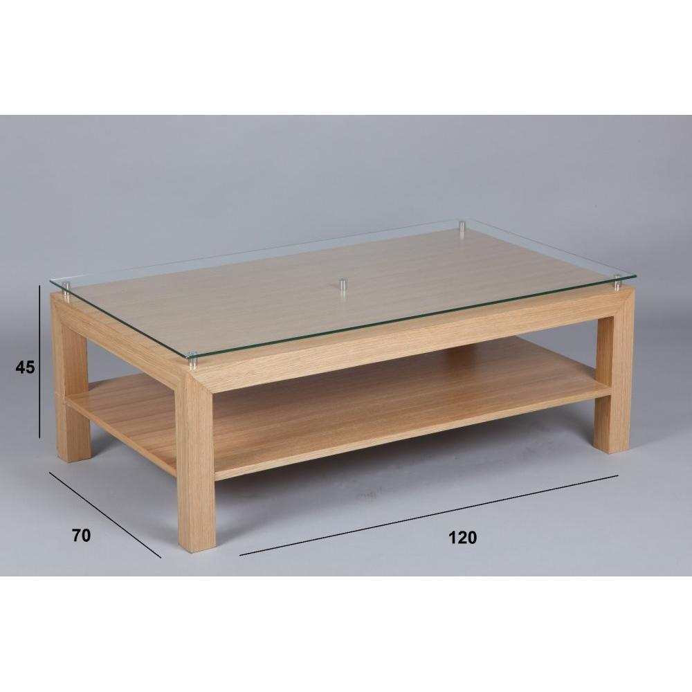 Tables basses tables et chaises table basse eoline avec - Table basse plateau verre ...