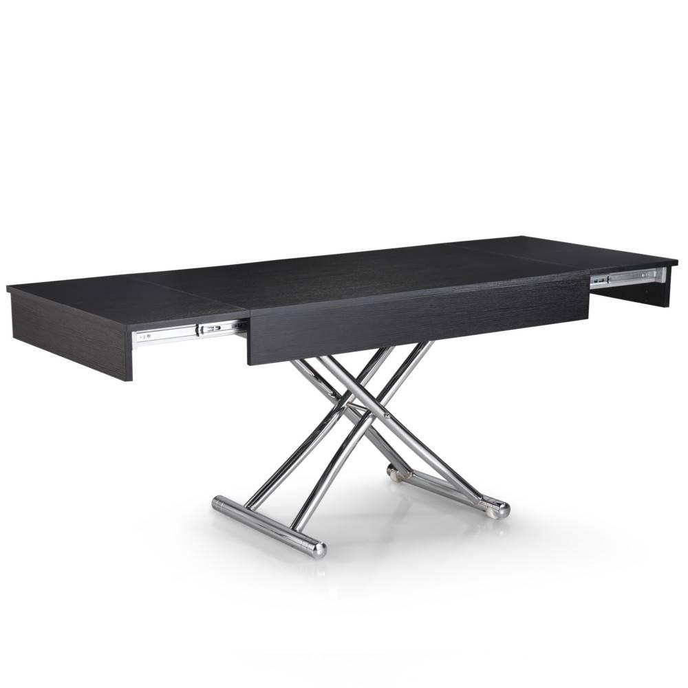 table basse relevable extensible helena bois noir. Black Bedroom Furniture Sets. Home Design Ideas