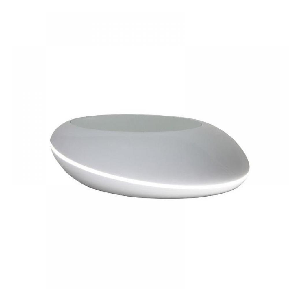 Table Basse Avec Tiroir Blanche ~ Table Basse Design Galet Led Coloris Gris Fonc? © Pictures To Pin