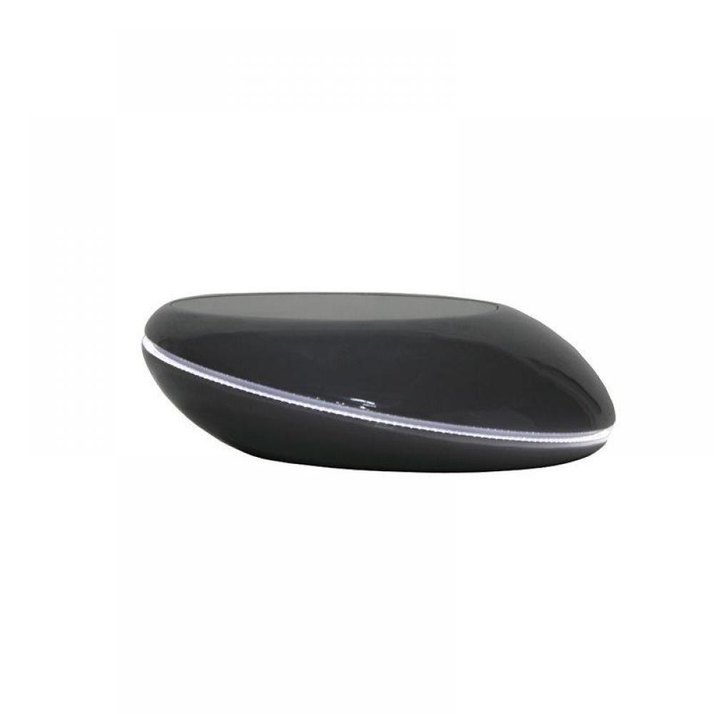 tables basses tables et chaises galet table basse design gris fonce avec eclairage led inside75. Black Bedroom Furniture Sets. Home Design Ideas