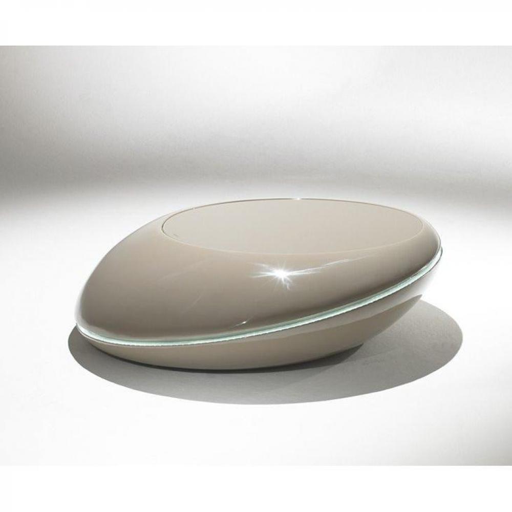 Tables basses meubles et rangements galet table basse design taupe clair av - Table basse galet led ...