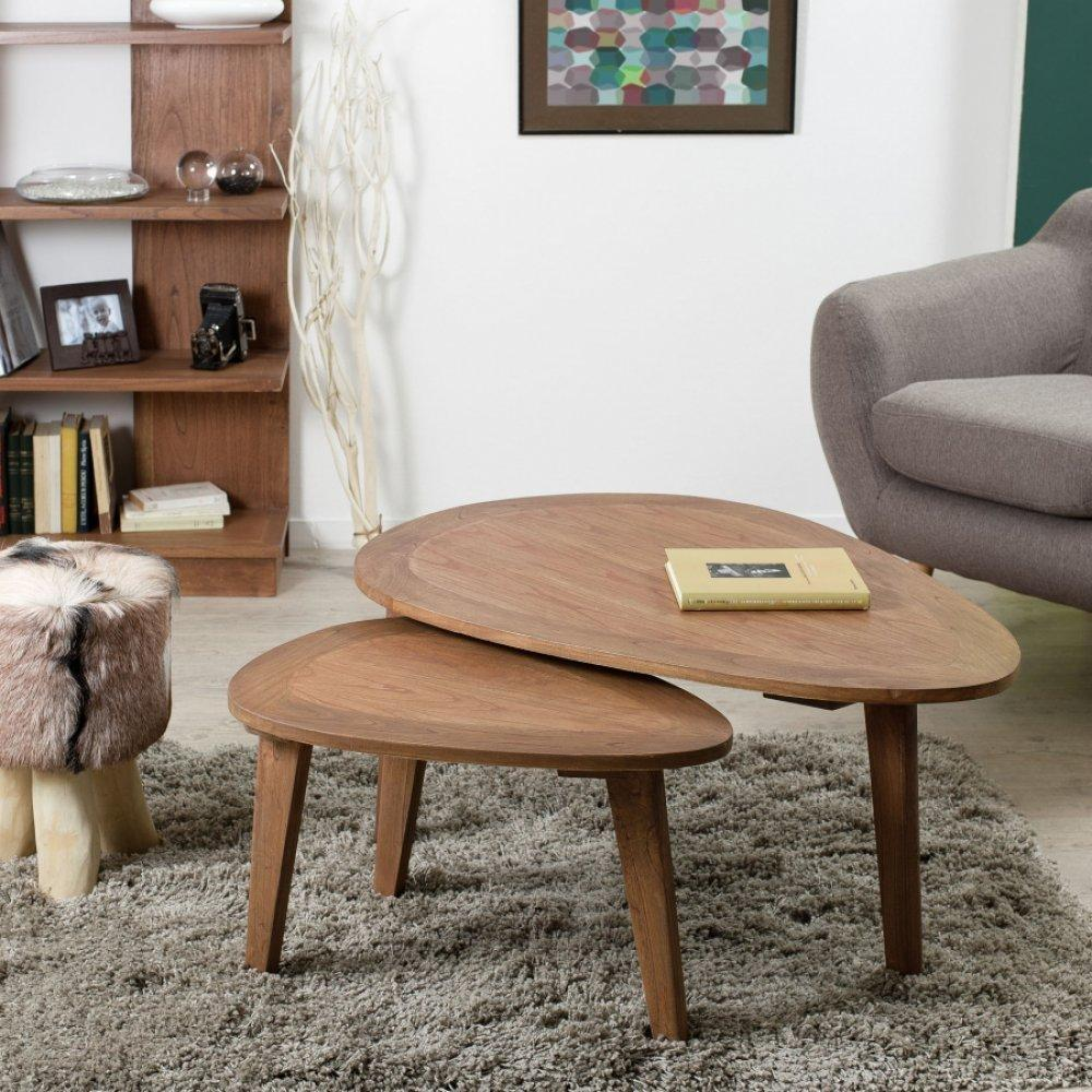 Tables basses tables et chaises fancy table basse en - Table basse bois scandinave ...