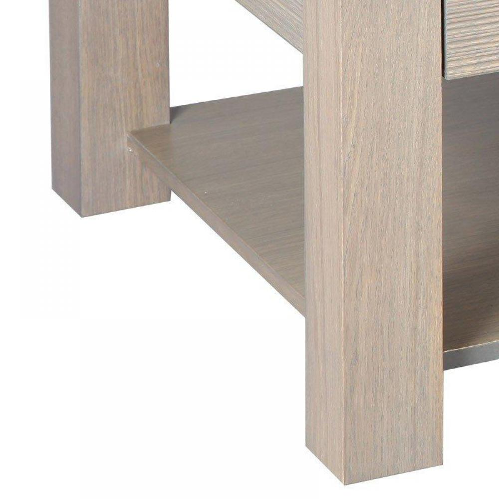 Tables basses, tables et chaises, Table basse HANS en chêne massif gris taupe -> Table Basse Gris Taupe