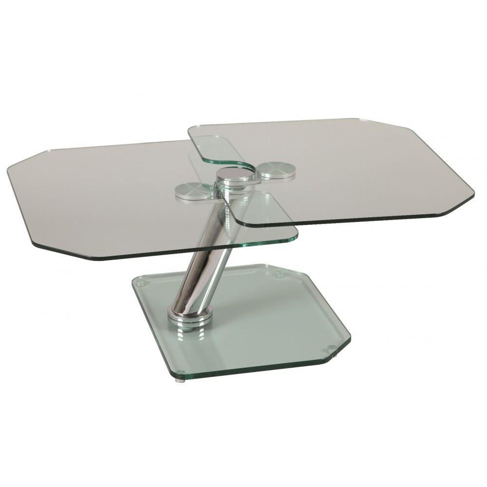 Tables basses tables et chaises table basse fly double for Table ronde verre fly