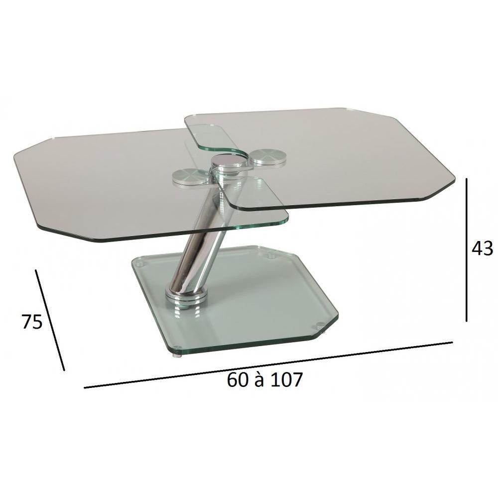 Table basse fly images - Table basse verre acier ...