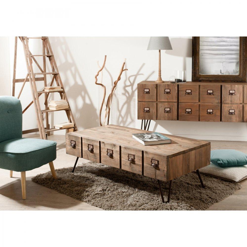 Tables basses tables et chaises table basse adam en bois for Table basse en acacia