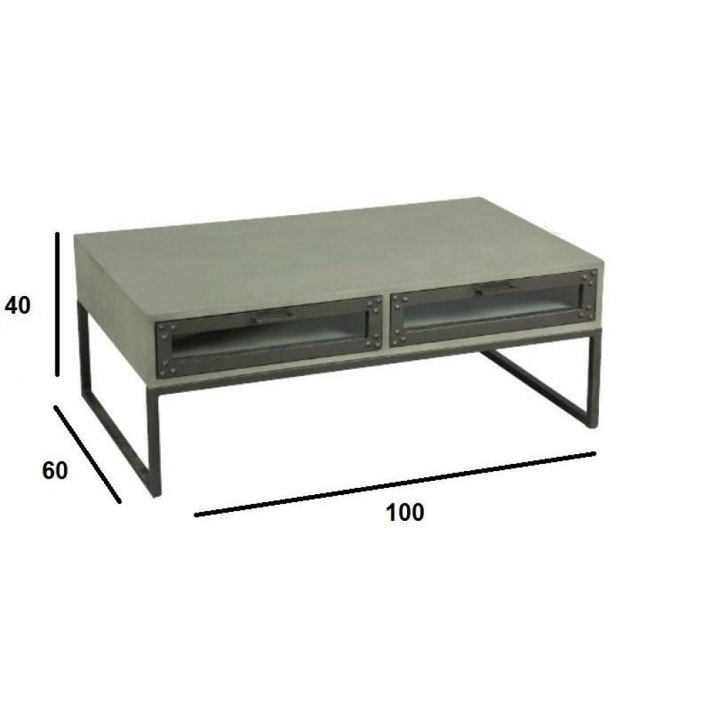 Tables basses tables et chaises table basse tv industry for Table basse ceruse gris