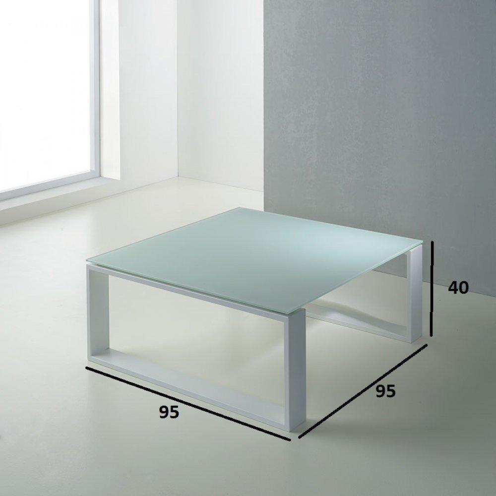 Tables basses tables et chaises table basse carr e tacos blanche inside75 - Table basse blanche et taupe ...