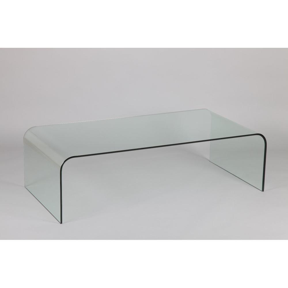 Tables basses tables et chaises table basse jade en verre inside75 - Tables basses en verre ...
