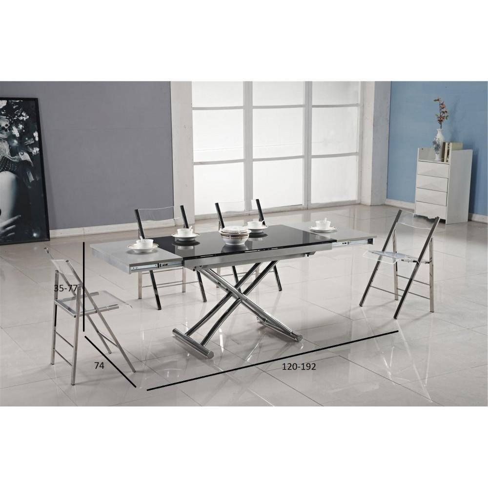Tables relevables tables et chaises table basse jump extensible relevable e - Table noire extensible ...