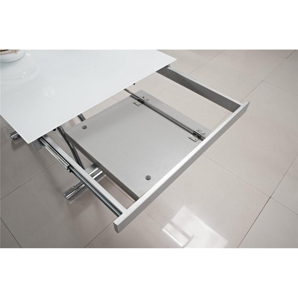 Table verre extensible - Table salle a manger verre trempe noir extensible ...