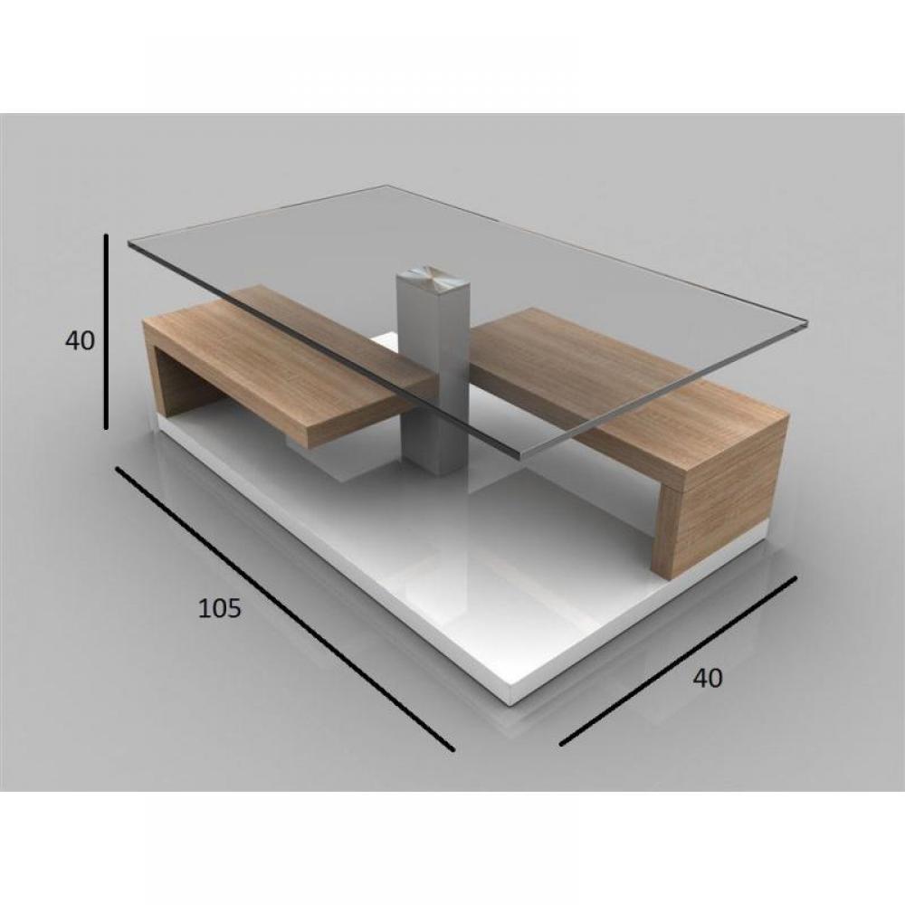 Tables basses tables et chaises table basse maeva ch ne - Table basse chene sonoma ...