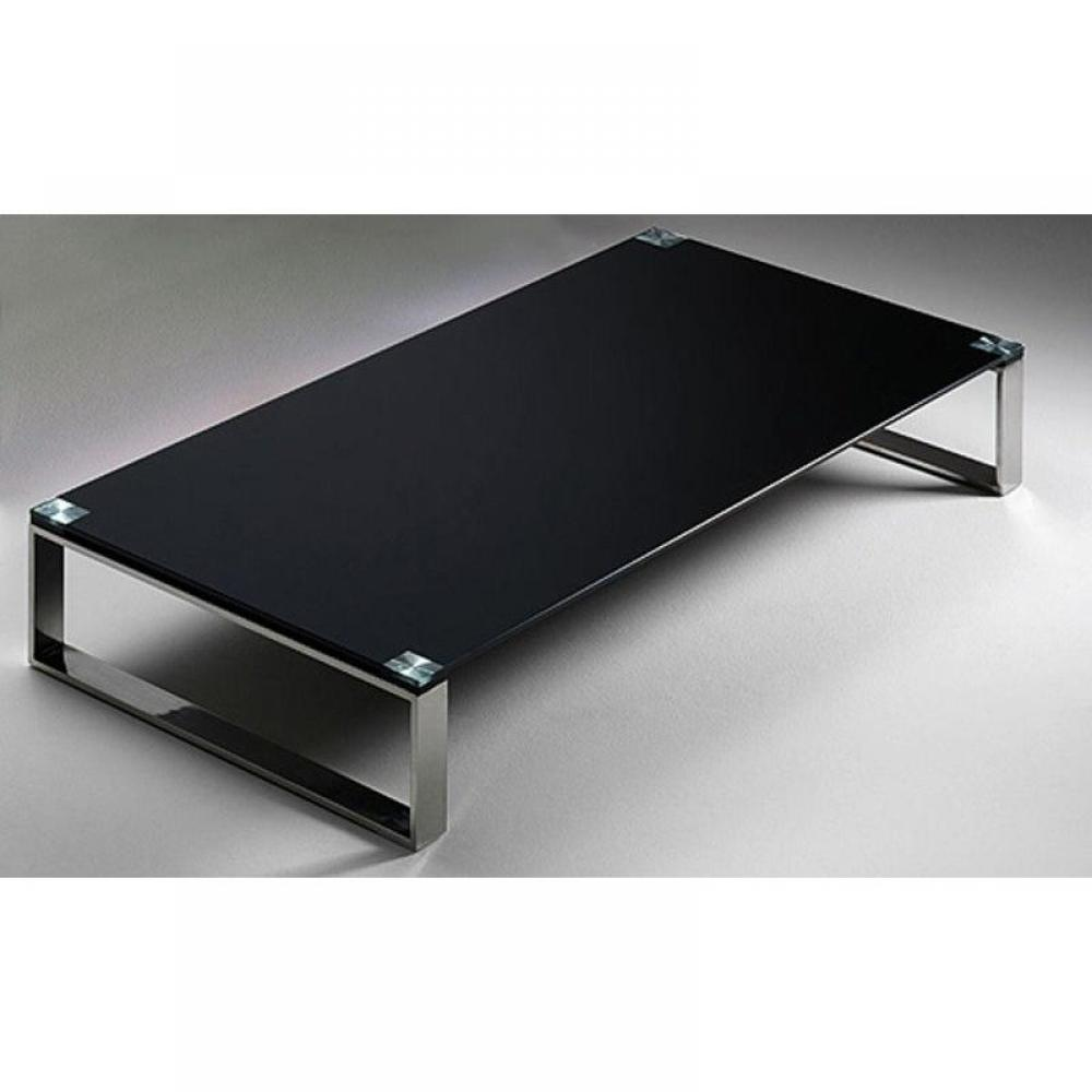 Tables basses tables et chaises table basse miami en verre noir inside75 - Table basse en verre noir ...