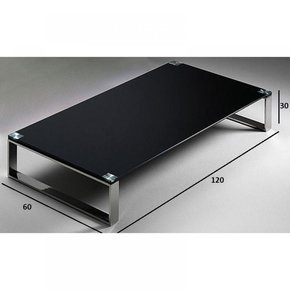 Tables basses tables et chaises table basse miami en - Table basse noir verre ...