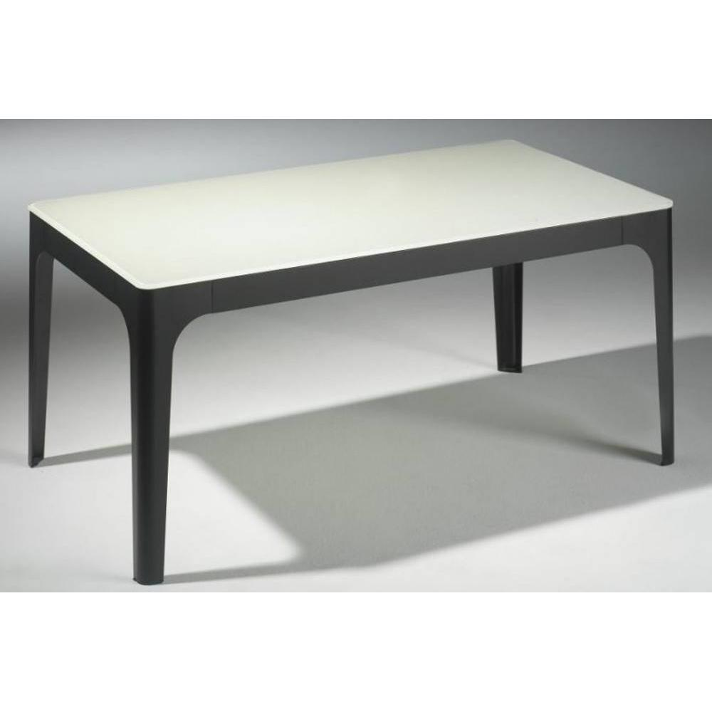 Tables basses tables et chaises table basse mila en verre blanc et pi temen - Table basse verre blanc ...