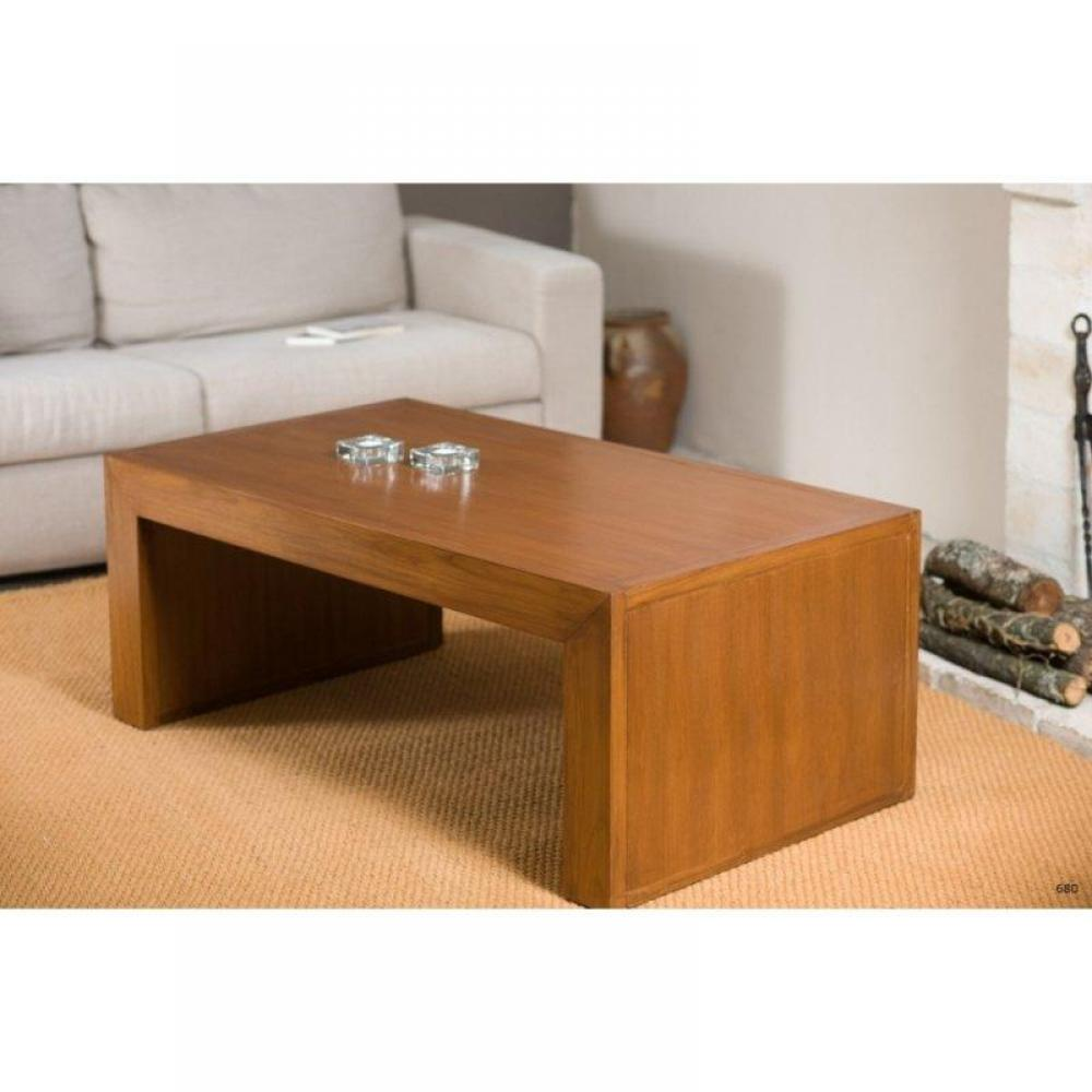 Tables basses tables et chaises table basse moderne style colonial en teck massif 110 60cm - Table moderne bois ...
