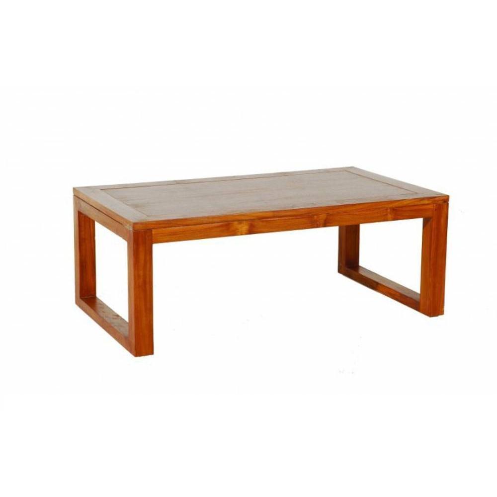 tables basses tables et chaises table basse moderne 120 70cm en teck massif inside75. Black Bedroom Furniture Sets. Home Design Ideas
