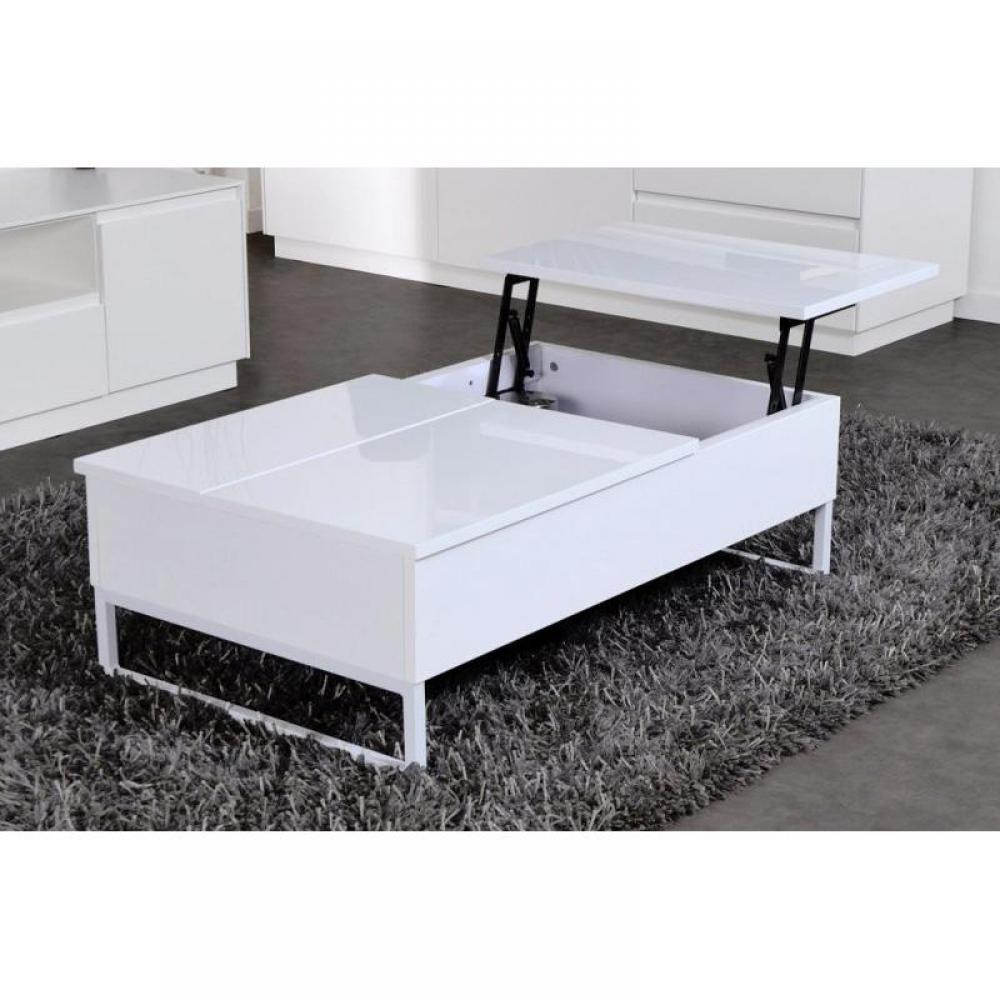 tables relevables meubles et rangements modula blanche table basse modulable avec rangement. Black Bedroom Furniture Sets. Home Design Ideas