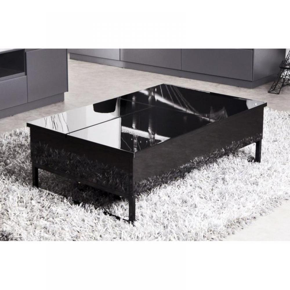 Table Basse Modulable Noir