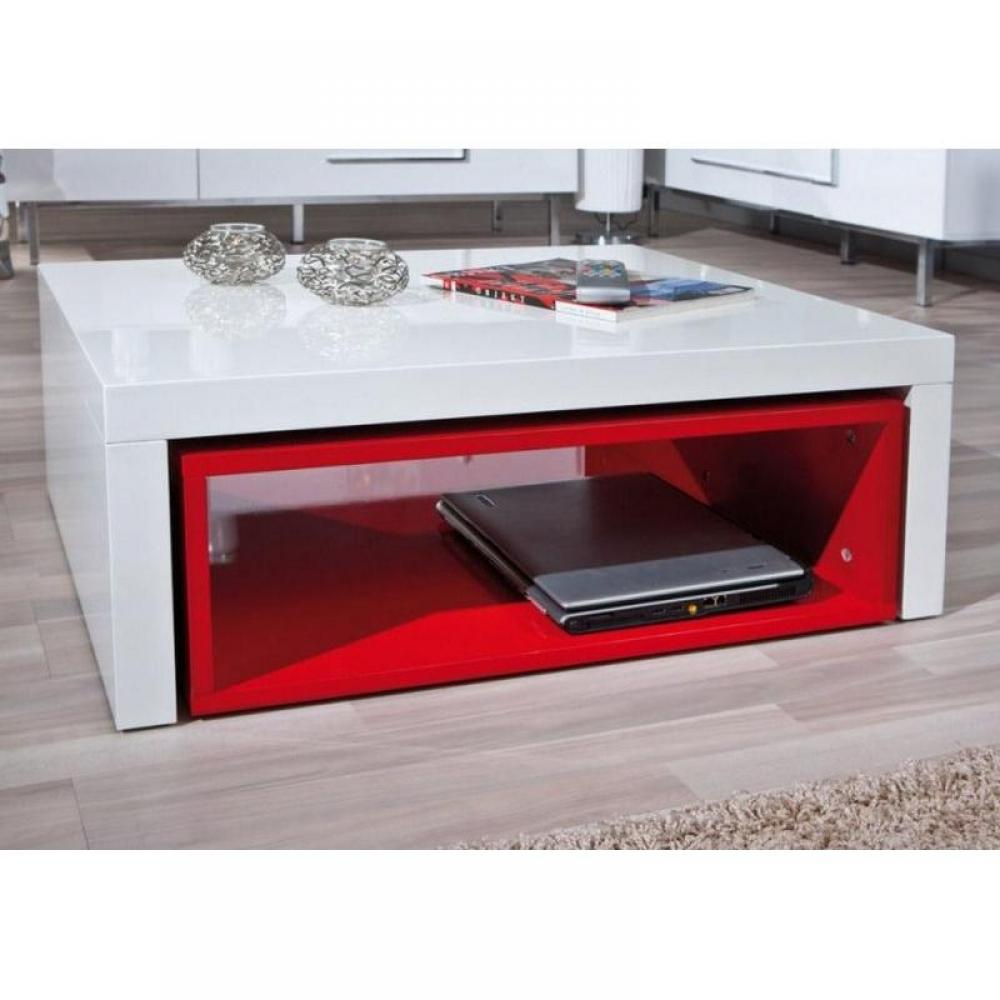 Tables basses meubles et rangements table basse modulable design zola blanc - Table basse design rouge ...