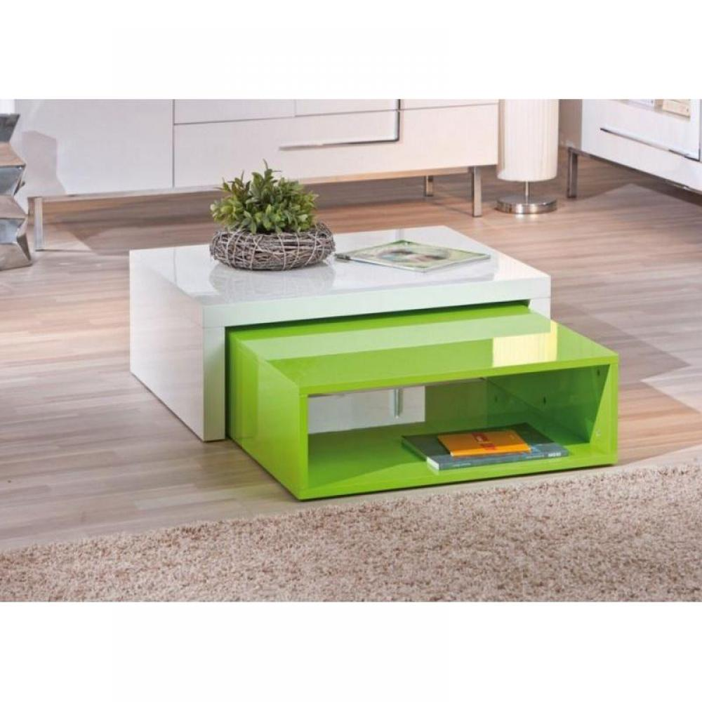 Tables basses tables et chaises table basse modulable design zola blanche e - Table modulable design ...