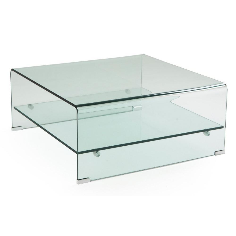 Tables basses tables et chaises table basse neil 2 - Table basse en verre 2 plateaux ...