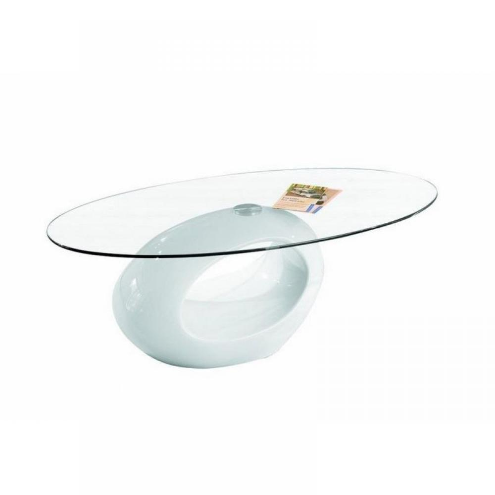 Tables basses tables et chaises table basse ovale nigra en verre et pi teme - Table basse verre ovale ...