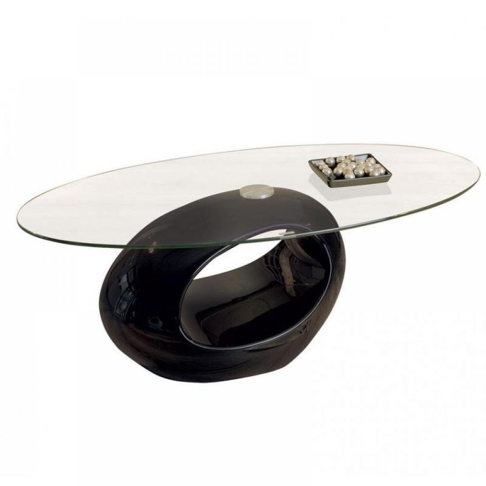 Tables basses meubles et rangements table basse ovale for Table basse en verre noir