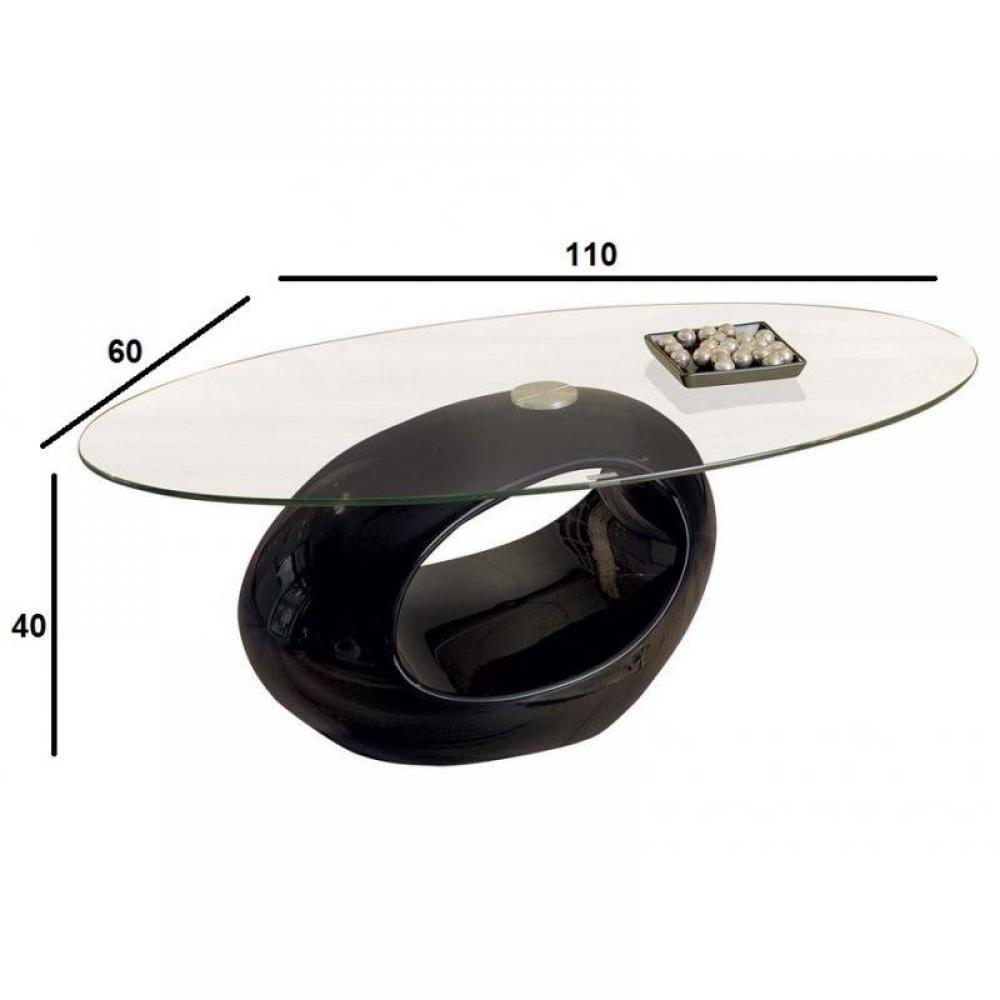 Meuble Tv Ovale : Détails Sur Table Basse Ovale Nigra En Verre Et Piétement Noir