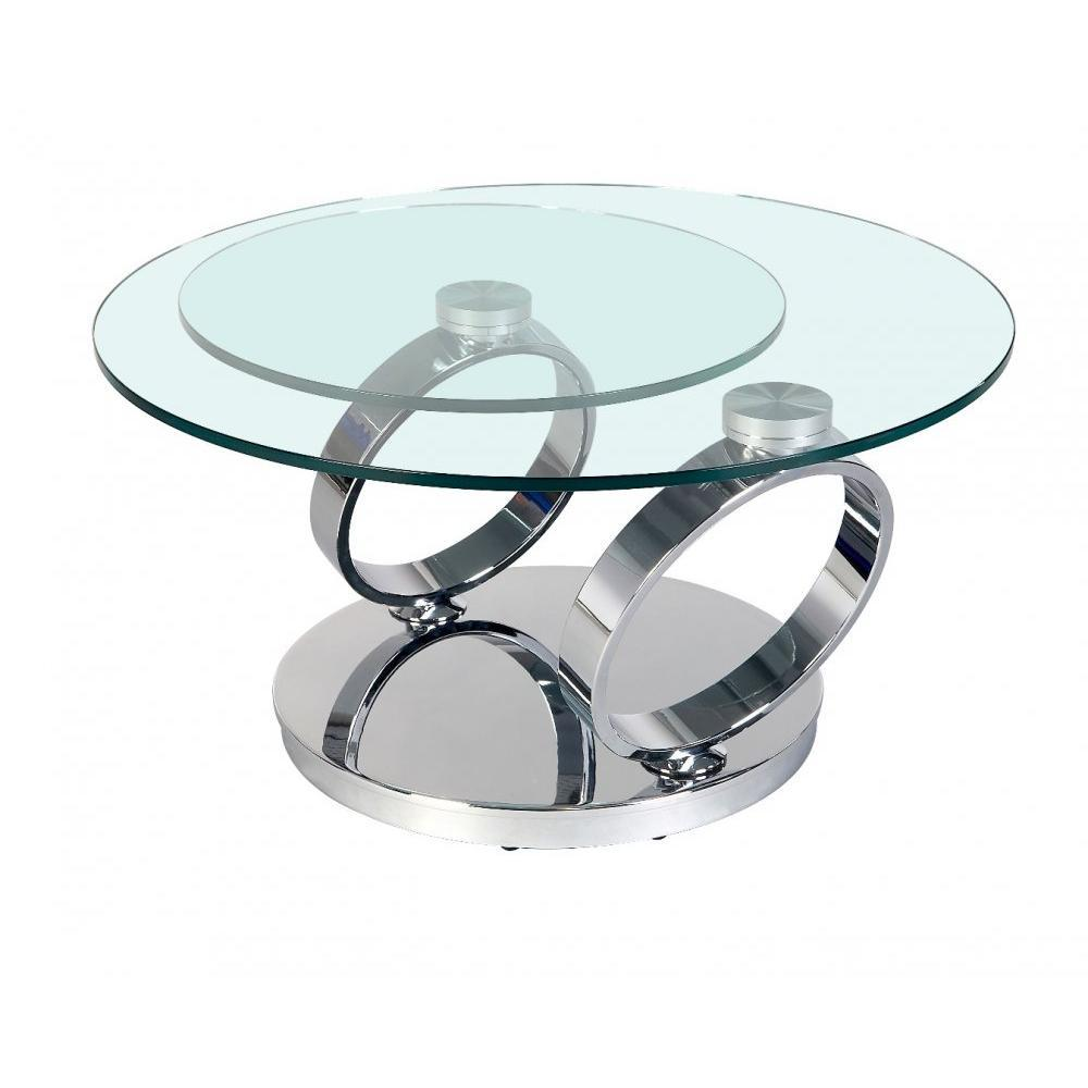 Tables basses tables et chaises table ring plateaux for Table gigogne en verre