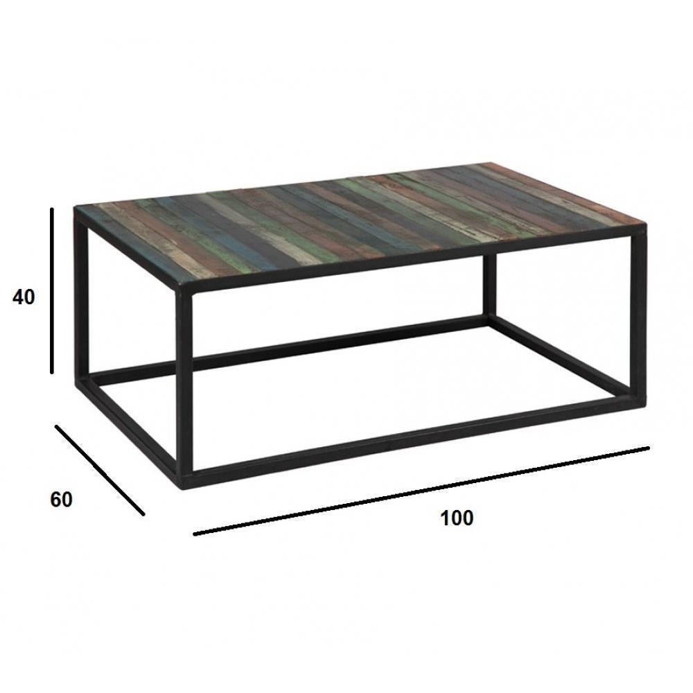 tables basses tables et chaises table basse recover en bois recycl s inside75. Black Bedroom Furniture Sets. Home Design Ideas