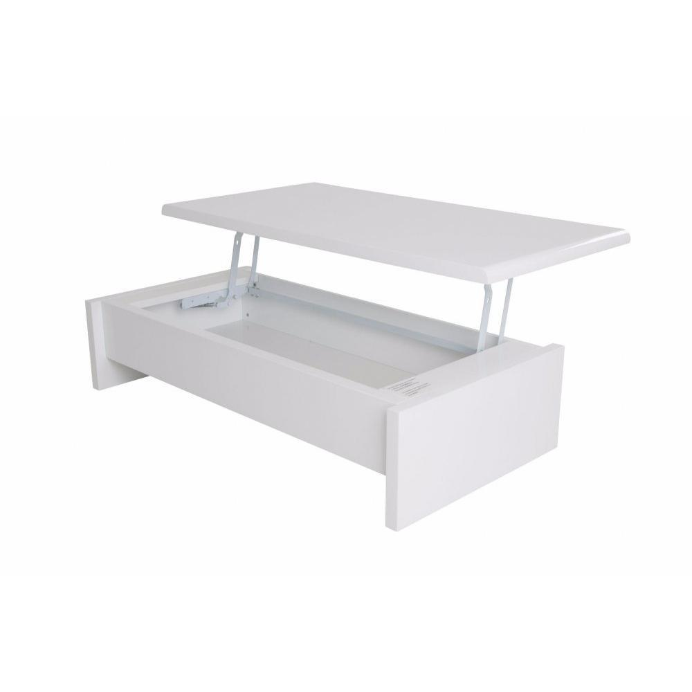 Tables basses tables et chaises table basse rectangle - Table basse coffre blanc ...