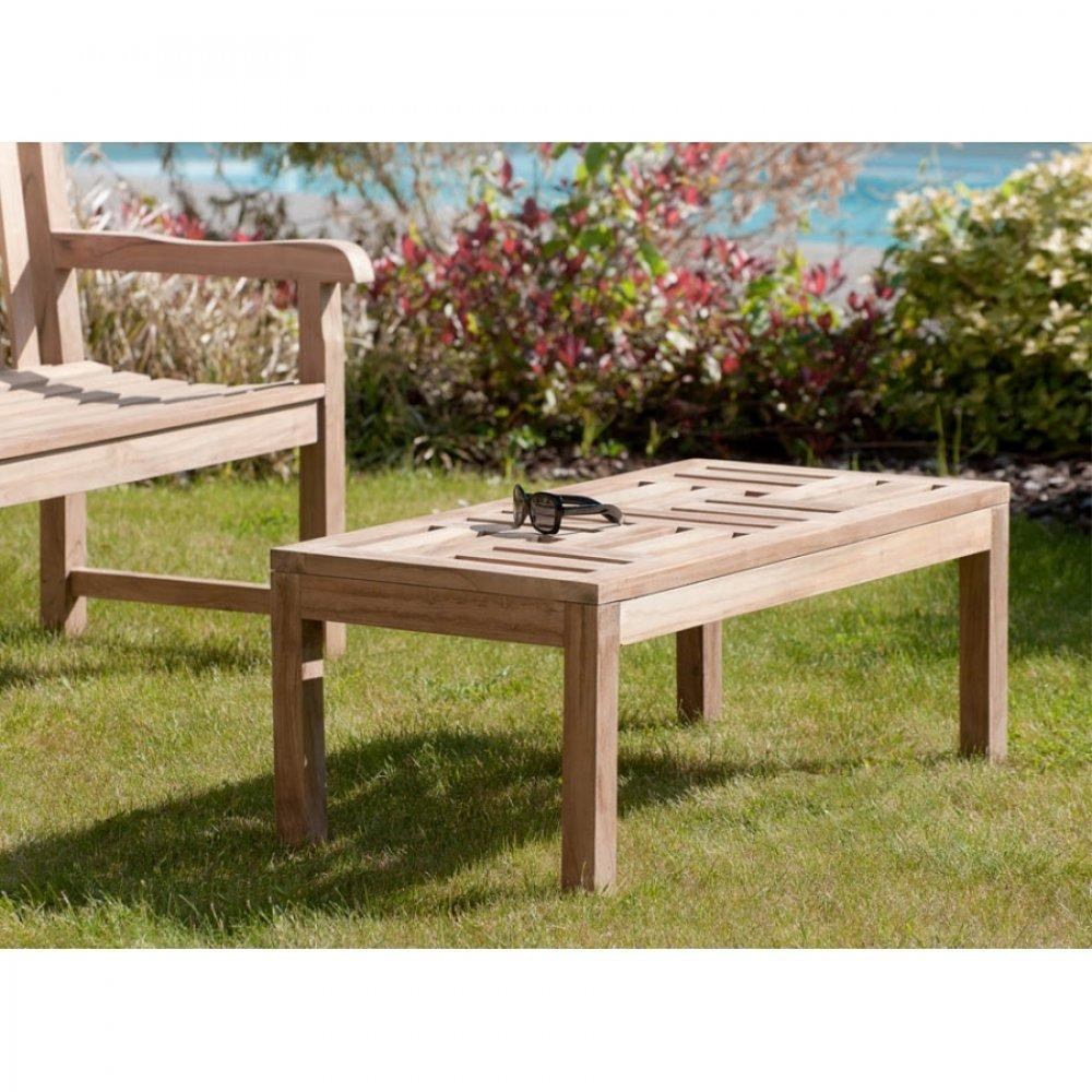 table basse en teck pour jardin. Black Bedroom Furniture Sets. Home Design Ideas