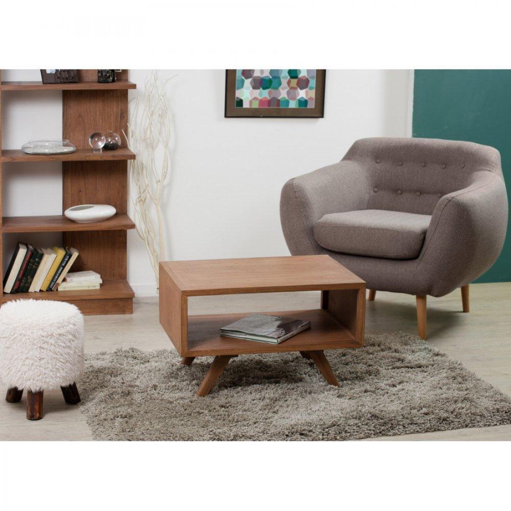 tables basses tables et chaises table basse double plateau fancy en bois teinte naturelle. Black Bedroom Furniture Sets. Home Design Ideas