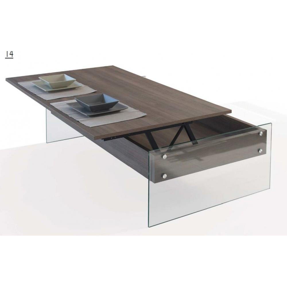 Tables relevables tables et chaises table basse relevable bella coloris orm - Table relevable en verre ...