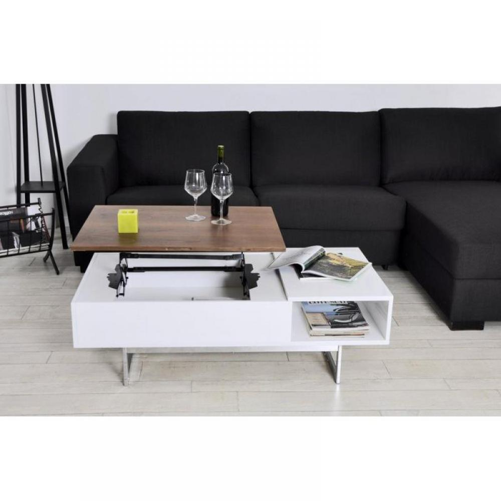 Tables basses meubles et rangements table basse tagg rehaussable avec coffr - Table basse rehaussable ...