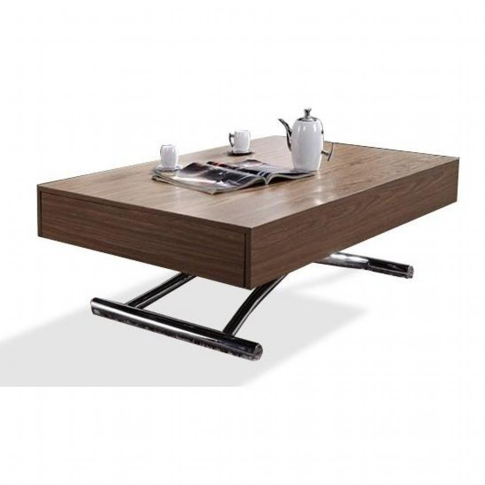 Table basse relevable bois Table basse personnalisee photo